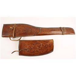 Tooled Leather Rifle Scabbard