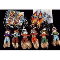 Lot of 15 Native American Beaded Earrings