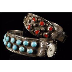 2 Ladies Navajo Watchband Cuffs