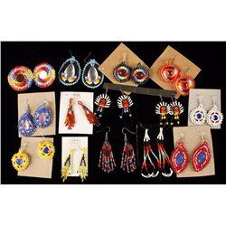 Lot of 14 Native American Earrings