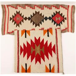 Lot of 2 Small Indian Rugs
