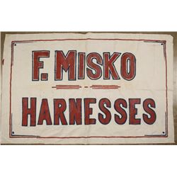 Antique Advertising Banner for F. Misko Harness