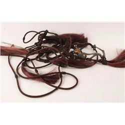 Maroon Fleming Horsehair Bridle & Reins