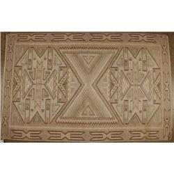 Raised Outline Geometric Pattern Indian Rug