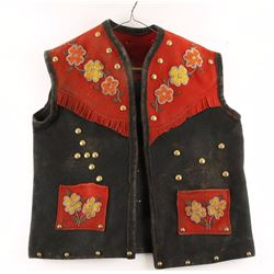 Beaded & Studded Wild West Show Vest