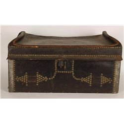 Antique Stagecoach Leather Trunk