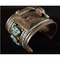 Large Navajo Watchband Cuff