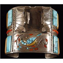 Large Zuni Watchband Cuff