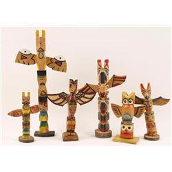Lot of 6 Ojibwa Totems