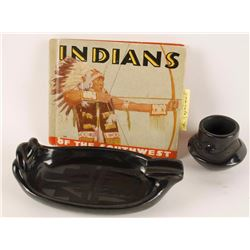 Lot of Two Blackwear Pueblo Pots