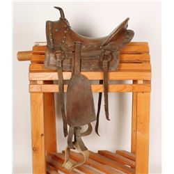 Child's Leather Saddle Tree