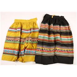 Collection of 2 Mexican Handmade Patchwork Skirts