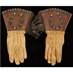 Pair of Lady's Wild West Show Gauntlets
