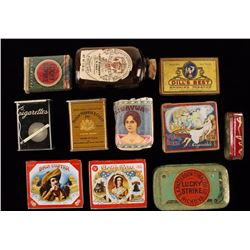 Lot of Vintage Cigarette Tins