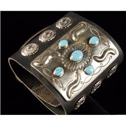 Navajo Leather Cuff