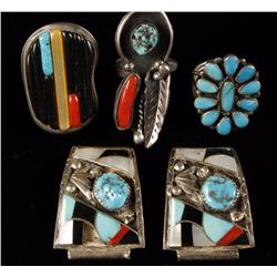 Lot of 4 Native American Jewelry Items