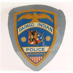 Papago Indian Police Sign