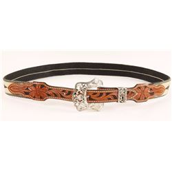 Ladies Hitched Horsehair Belt with Buckle