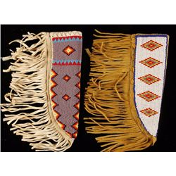 Collection of 2 Fully Beaded Knife Scabbards