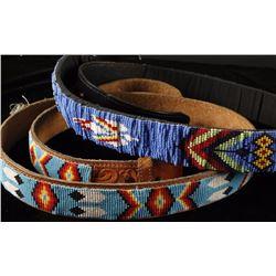 Lot of 2 Beaded Belts