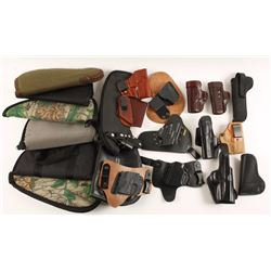 Lot of Holsters & Gun Rugs