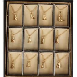 Collection of 12 Gold Plated Oilfield Necklace &