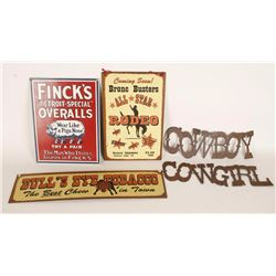 Western Sign Collection
