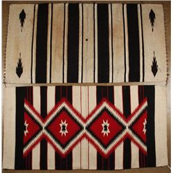 Two Mexican Double Saddle Blankets