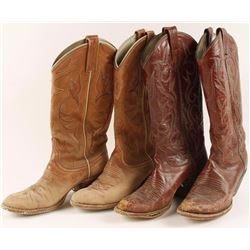 Two Pair of Cowgirl Boots