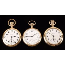 Collection of 3 Howard Pocket Watches