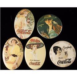 Lot of 5 Coca Cola Advertising Pocket Mirrors