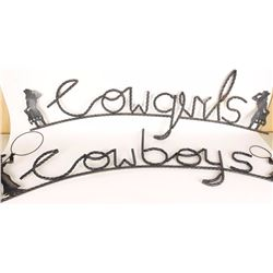 Cowboy & Cowgirl Signs