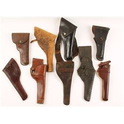 Lot of 9 Leather Holsters