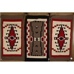 Collection of Three Mexican Saddle Blankets