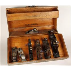 Collection of 7 Vintage Hand Planers
