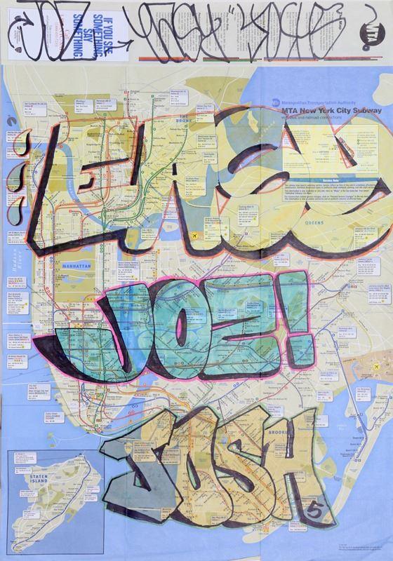 Nyc Subway Map Paper.Easy Joz And Josh Tagged Nyc Subway Map Marker Drawing