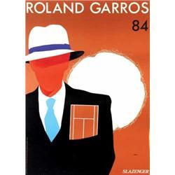 Advertising poster, tennis - ROLAND GARROS 84