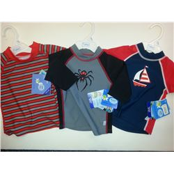 I PLAY BRAND BULK LOT SWIM SHIRTS ASSORTED STYLES AND SIZES 16-18 MONTHS