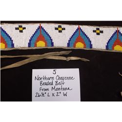 "Northern Cheyenne Beaded Belt from Montana.  26 1/2""L X 2""W"