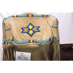 Sioux Beaded Fringed Buckskin Dress