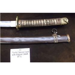 "Marked Samurai Sword with Original Sheath  37""L"