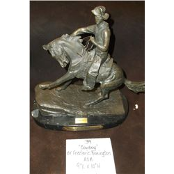 """Cowboy"" by Frederic Remington  ASB. 9""L X 10""H"