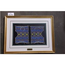 "Crow Beaded Leggings Eastern Montana. Frame 29""L X 22""W"