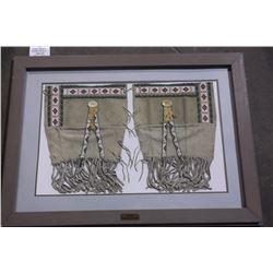 "Plains Indian Beaded Buckskin Leggings.  42""L X 30"" W"