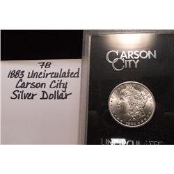 1883 Uncirulated Carson City Silver Dollar