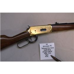 Commemorative Winchester 94 Centennial 66 Rifle- .30-30 Saddle Ring Octagon Barrel. Never Fired.