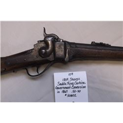 1859 Sharps Saddle Ring Carbine- Government Conversion in 1867- .44-77?  #50802