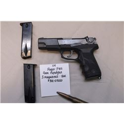 Ruger P-85 9MM Handgun- 3 magazines box. #302-07020