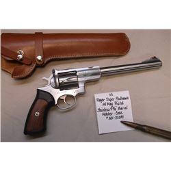 Ruger Super Redhawk- .44 Mag Pistol- Stainless 9 3/8 Barrel-Holster-Case. #551-33592