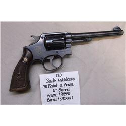 """Smith and Wesson- .38 Pistol- Z Frame- 6"""" Barrel.  Frame#98591  Barrel#S924441"""